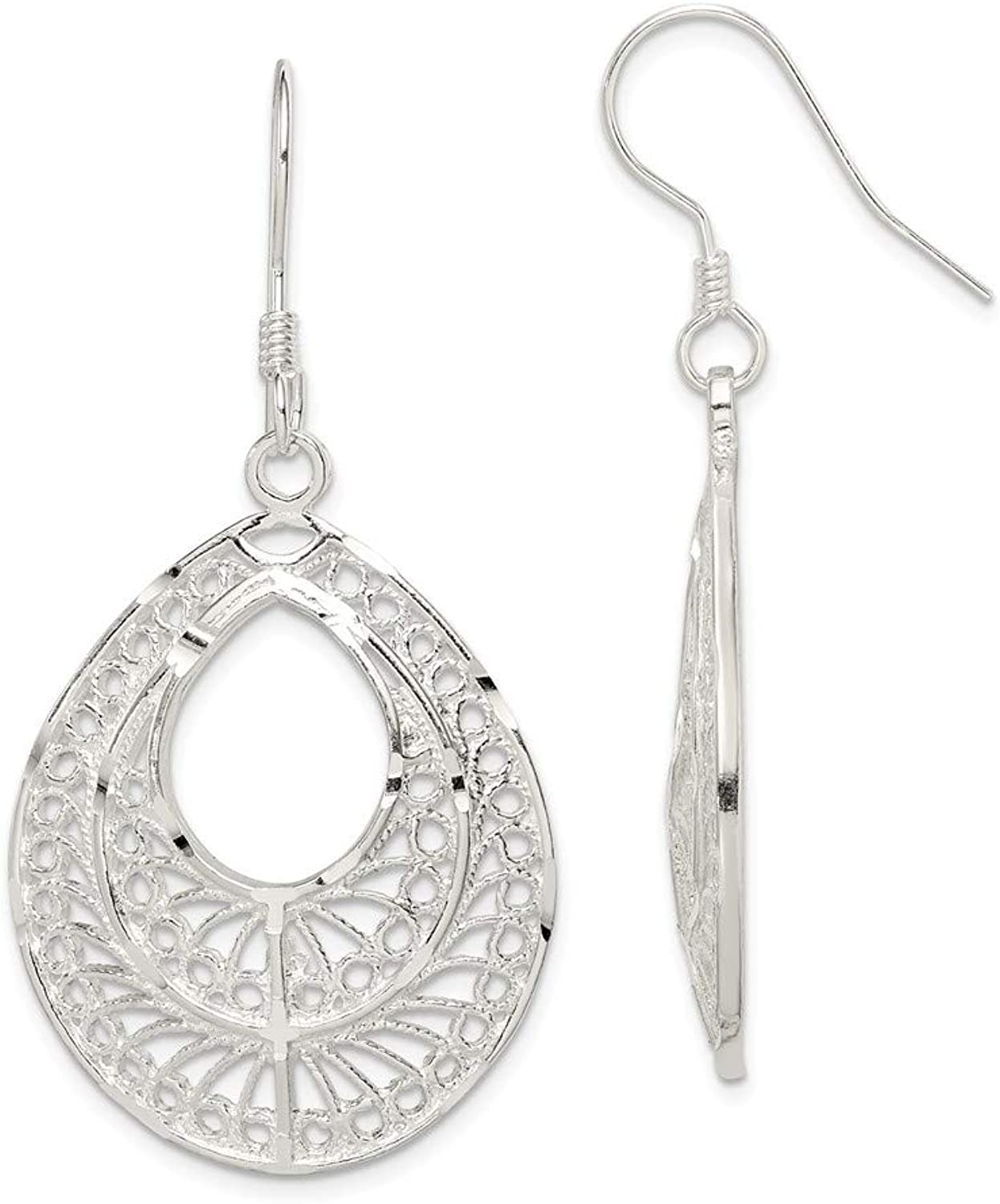 Beautiful Sterling silver 925 sterling Sterling Silver Filigree Earrings