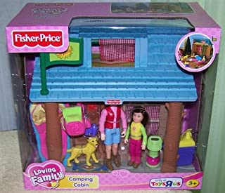 Loving Family Fisher Price Camping Cabin with Accessories