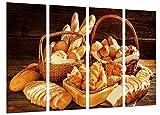 Poster Fotográfico Variedad de Panes, Panaderia, Pasteleria, Pan Tamaño total: 131 x 62 cm XXL