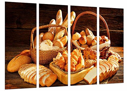 Cuadro Fotográfico Variedad de Panes, Panaderia, Pasteleria, Pan Tamaño total: 131 x 62 cm XXL