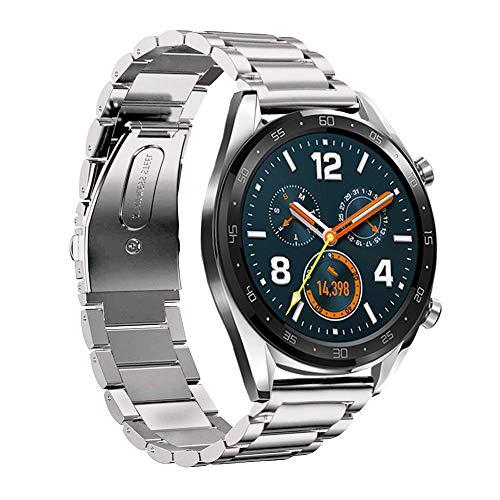 SPGUARD Armband Kompatibel mit Huawei Watch GT 2e Armband Huawei Watch GT2 46mm Armband,22mm Edelstahl Ersatzarmband für Huawei GT2e/Huawei Watch GT 46mm/Honor Magic Watch 2 46mm(Silber)