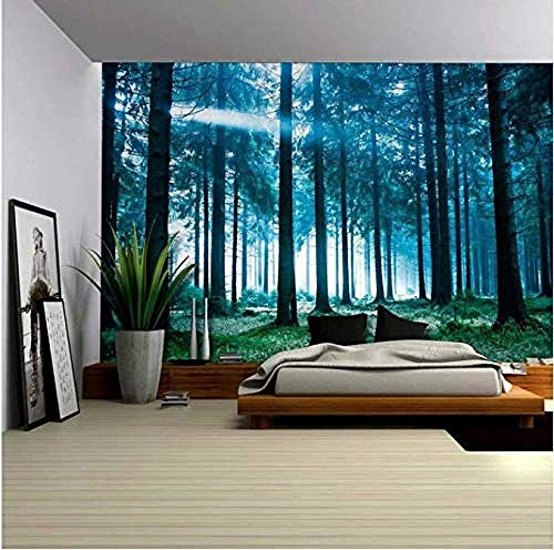 HUIQ Four Seasons Woods Tapiz Colgante de Pared Sala de Estar Dormitorio Paisaje Pintura de Pared Tapiz Fino 200 * 150Mm