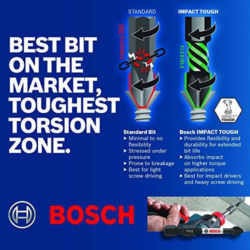 Bosch ITPH235B 3.5 In. Phillips #2 Impact Tough Screwdriving Bit