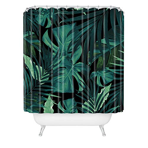 "Society6 Anita Bella Jantz Tropical Jungle Night 1 Shower Curtain, 72""x69"", Green"