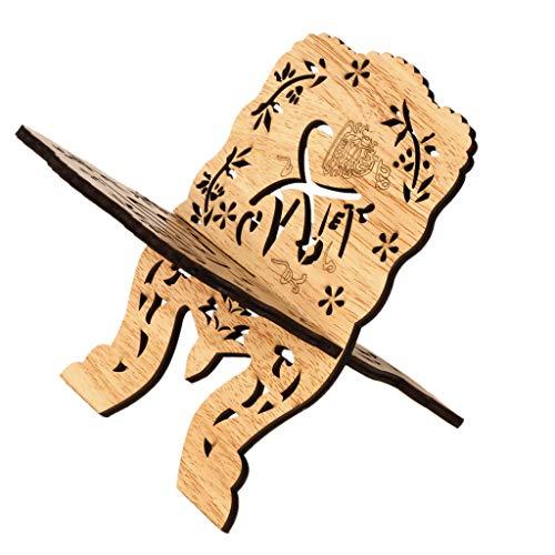 Islam Bijbel Boekenkast Houten Ornament Ramadan Boek Opberghouder Eid Mubarak Holle Bloemen Boekenkast Display Rack Organizer