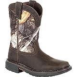 Rocky Big Kids' Ride FLX Waterproof Western Boot Size 3.5(M)