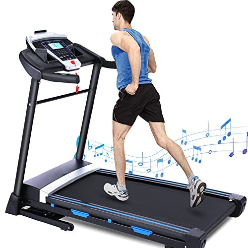 FUNMILY Treadmill with Incline & 300 lbs Weight Capacity, 3.25HP Folding Treadmill for Home with Automatic Incline, Electric Running & Walking Treadmill