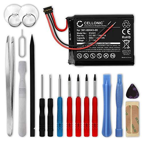 CELLONIC® Batería de Repuesto 361-0043-00 361-0043-01 Compatible con Garmin Edge 820, 520, 500, 205, 200 / Edge Explore 820, 600mAh + Juego de Destornilladores Accu GPS Pila sustitución Battery