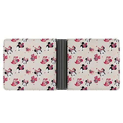 Las carteras de Mickey Cartoon Mouse Head para hombre son exquisitas y de gama alta, multifuncionales, elegantes regalos para novios y padres