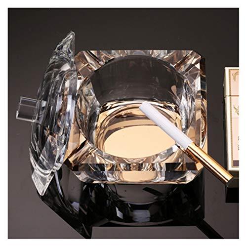 Personalidad Creativa Tendencia Crystal Glass Cenicero Anti-Grey Mosca con Cubierta Home Home Sale Sello Multifunción (Color : 2)