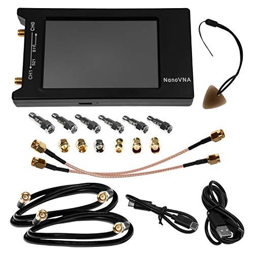 Nooelec NanoVNA-H 4 Premium Bundle - Analizador de Redes Vectoriales de un Distribuidor Autorizado Con 50kHz-1,5GHz+ VNA Portátil LCD 4', Blindaje EMI, Kit de Calibración, Kit de Atenuador y Más.