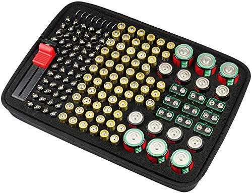 Batterie Organizer Aufbewahrungsbox mit Batterietester MO-1028XS05