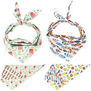 Free Sunday New Summer Design Dog Bandana,Pet Bandana for Summer (M)
