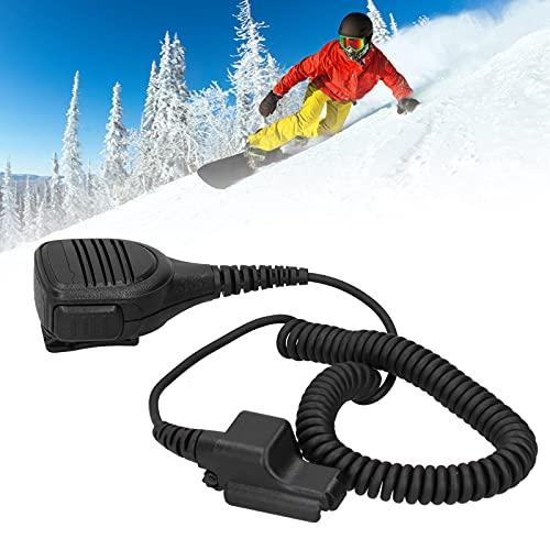 Luroze Micrófono con Altavoz, micrófono con Altavoz, Collar para Auriculares, con Clip, walkie Talkie portátil para mochileros, esquí, Snowboard