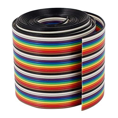 VIPMOON 1M 1.17mm 40PIN Cable de puente de cinta de arco iri