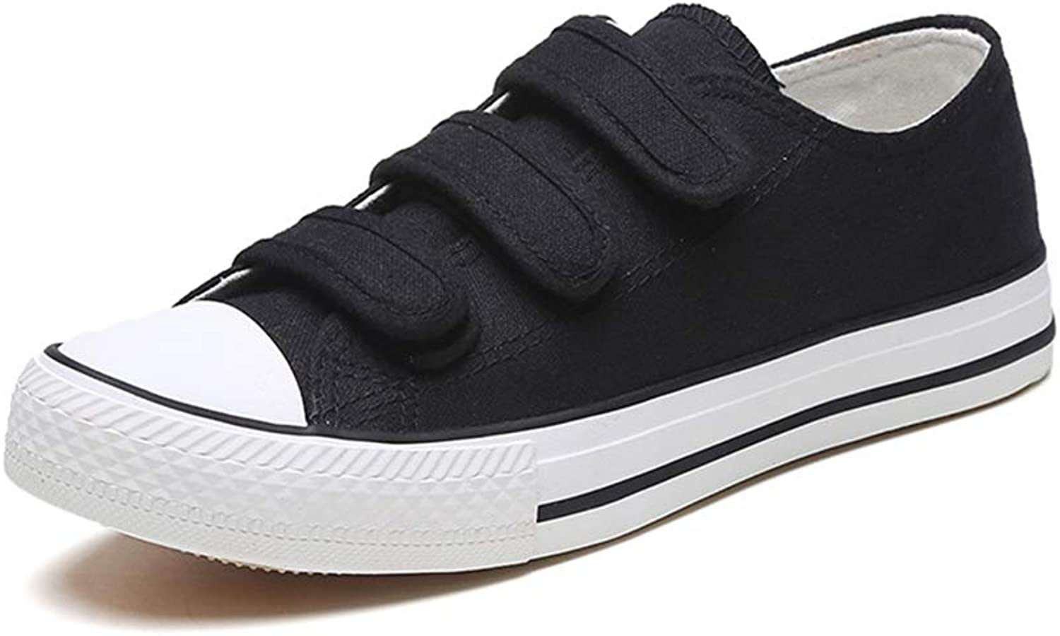 Super explosion Women's Comfortable Sneakers Casual Canvas shoes, Low Top LHook&Loop Cap Toe Flats for Girls