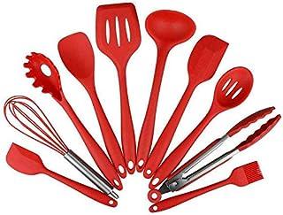 ادوات مطبخ، 10 قطع ادوات مطبخ سيليكون، مقاومة للحرارة غير لاصقة، مجموعة ادوات خبز