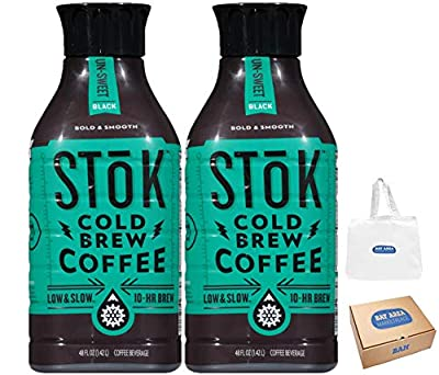 SToK Cold-Brew Iced Coffee, Unsweetened, 48 Ounce, 2 Count