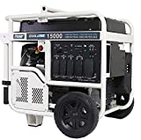 Pulsar PG15KVTWB Heavy Duty Portable Dual Fuel Generator-12000 Rated 15000 Peak Watts-Gas & LPG-Electric Start-RV Ready-CARB Compliant