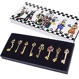 Kingdom Keys Hearts Keyblade Pendant Necklace Set Cosplay Accessories Golden