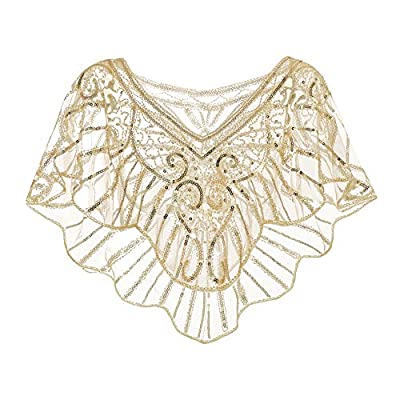 Metme Women's 1920s Wedding Wrap Bridal Shawl Gatsby Evening Bolero Flapper Cape