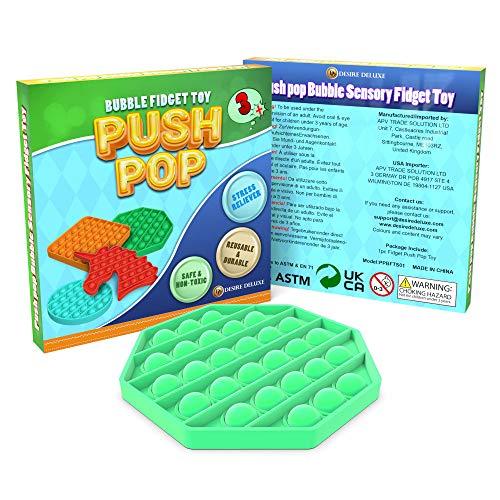 Desire Deluxe Push Pop Fidget Toys Pack para niños - Ansiedad sensorial Alivio del estrés Push It Juguete para el Autismo para niñas y niños - Caja de Regalo al por Menor