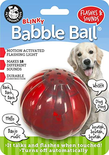 Pet Qwerks Blinky Babble Ball Flashing Interactive Talking Dog Toy for Large Dogs