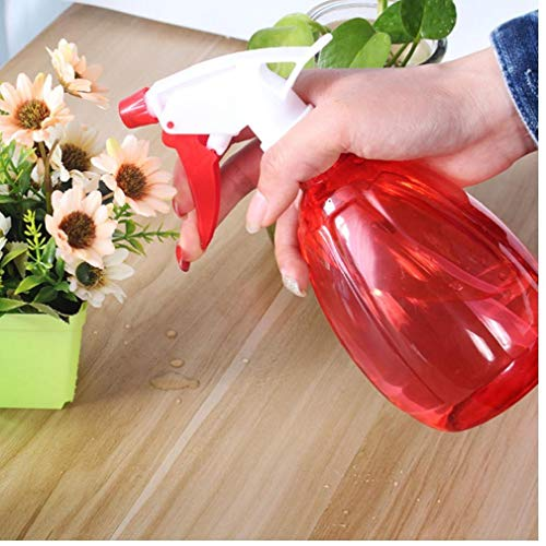 500ML Vaporisateur plastique vide de pulvérisation d'eau Bouteille ronde Bouteille vide en forme Atomiseur pour les fournitures d'arrosage de jardin (Rouge)