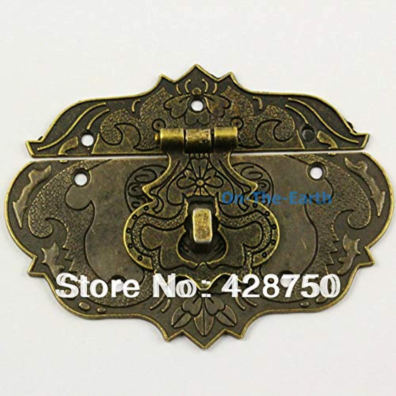 get cheap 59534 7ca7d Antique Brass Hasp Latch Lock Jewelry Box Hasp 86 65mm
