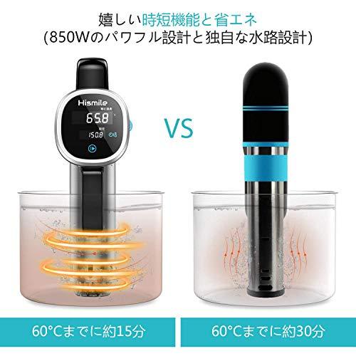 Hismile 低温調理器 真空調理機 低温 調理 クッカー 高さ12cmの浅い鍋にも対応した本格派 コンパクト 低温調理器具 チャーシューメーカー 日本企画商品 レシピ集付属 国内品質保証