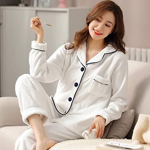 CIDCIJN Pijama para Mujer,Invierno Franela Pijama Mujeres PJ Mangas Completas Caliente Grueso Pijama...