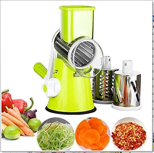 Chopper vegetales máquina de cortar de múltiples funciones del cortador de la fruta vegetal Queso Shredder con 3 cuchillas de acero inoxidable de Rotary para la molienda, trituración, rebanar