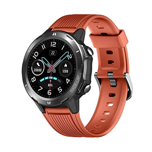 """LATEC Smartwatch, Reloj Inteligente con 1.3"""" Pantalla Táctil Completa, Pulsera Actividad Inteligente Hombre Mujer 5ATM Impermeable Reloj Deportivo con Cronómetro Pulsómetro para Android y iOS"""
