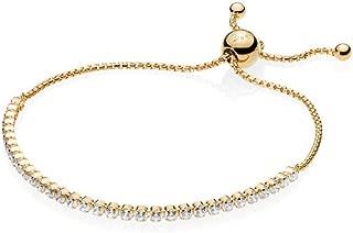 Adjustable Sparkling Strand 18k Gold Plated Shine Collection Bracelet, Adjustable Size: up to-25cm, 9.8 inches - 560524CZ-3