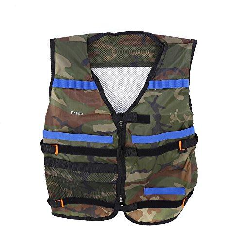 SolUptanisu Tactique CS Field Vest CS Field Vest Outdoor Respirant Combat Training Vest Elite Tactical Vest Protective Jacket Vest for Toy Gun Elite Series Camo