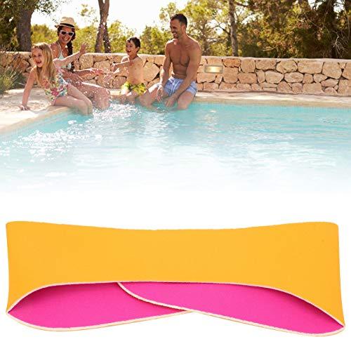 FOLOSAFENAR Banda para el Pelo de natación, Diadema de Oreja elástica a Prueba de sacudidas 2 Piezas para Deportes acuáticos para Deportes de Yoga(Orange)