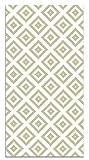 Panorama Alfombra Vinílica Cuadros Amarillo 80x300 cm - Alfombra Cocina Vinilo - Alfombra Salón Antideslizante, Antihongos e Ignífuga - Alfombras Grandes - Alfombras PVC