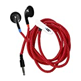 HamiltonBuhl Tangle-Free Cushioned Earbuds - Red