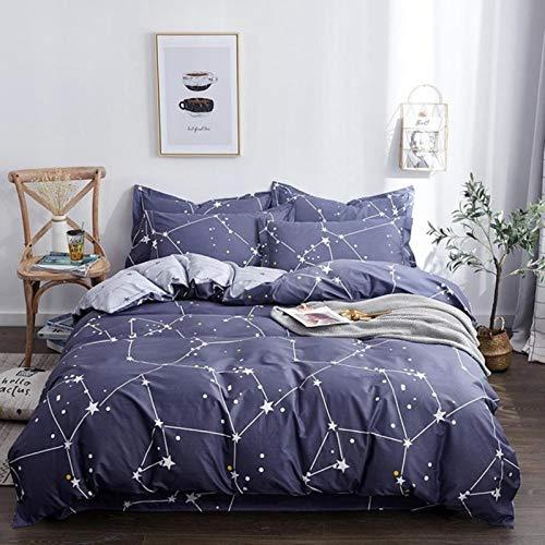 LINGs Scandinavian cotton bedding sets, duvet cover bed sheet pillowcase textile,ENZE-024,0.9m