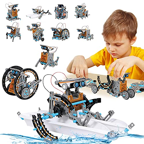 STEM Toy Solar Robot Kit 12-in-1 Learning Science Building Toy for Science...