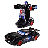 Wishkey Bump & Go 2 in 1 Transformer Robot Racing Car with Colourful