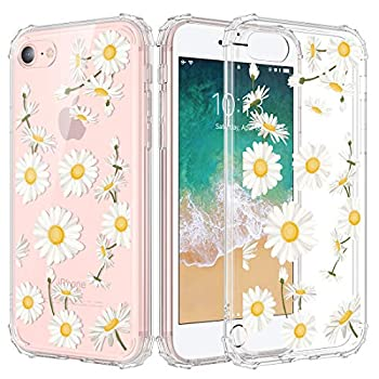 Caka iPhone 6 Case Clear with Design iPhone 6s Case for Girls Daisy Floral Flowers Pattern Case for Women Girly Slim Soft TPU Crystal Protective Case for iPhone 6 6s 4.7 inches  Daisy