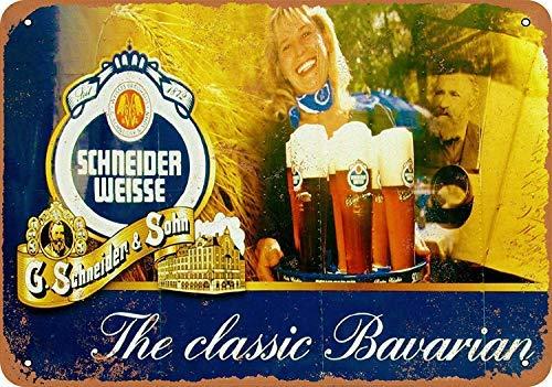 GFGKKGJFD709 - Placa de Metal para Pared, diseño de Cerveza de Schneider Weisse