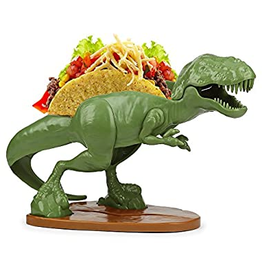 Barbuzzo TACOsaurus Rex Taco Holder - The Ultimate Prehistoric Taco Stand for Jurassic Taco Tuesdays and Dinosaur Parties - Holds 2 Tacos - The Perfect Gift for Kids and Kidults that Love Dinosaurs