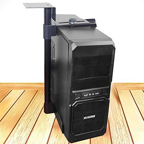 Luoshan Caso Universal de la PC CPU Holder Soporte Colgante Ajustable Soporte de Sistemas Informáticos anfitrión, 100-430mm Altura Ajustable, 135-230mm Anchura Ajustable (Negro) (Color : Black)