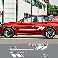 JIERS BMW X3 E83 F25 G01のスポーツ自動ドアサイドデカール車のステッカー自動ボディ装飾アクセサリーステッカー