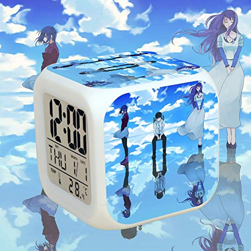 Totots Cartoon Wecker Kamischiro Rize, Bunte LED Nachtlicht Kirishima T □ KA, Anime Snooze Uhr Kaneki Ken, Mini-Desktop-Verzierung Tokyo Ghoul, Square Clock