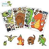 Matogle 24 Fogli Adesivi Dinosauro Fai da Te per Bambini Giocattoli DIY Decorazione Gioco ...
