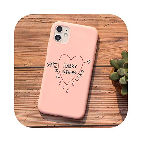 Harry Styles Love on Tour 2020 - Carcasa para iPhone 12 Pro 11 Pro Max XR 6S 8 7 Plus 5S X XS MAX SE 2020 TPU Cover - TPU Q563-rosa-para iPhone XR