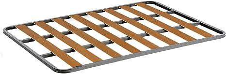 HOGAR24 Somier de Acero con láminas de chopo. Fabricación Nacional. 140x200cm-SIN Patas